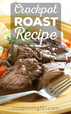 This is the easiest ever Crockpot Beef Roast Recipe! Perfect dinner for busy weeknights!