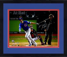 Framed Kris Bryant Chicago Cubs 2016 MLB World Series Champions Autographed x World Series Photograph Chicago Cubs Memorabilia, Mlb World Series, Cubs Fan, Vintage Display, American Sports, Card Games, Champion, How To Memorize Things, Old Things