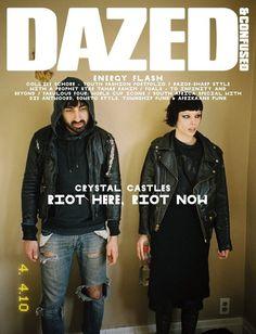 criwes: Dazed & Confused Magazine June 2010 Crystal Castles – Riot Here, Riot Now