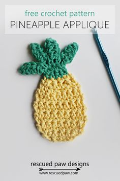 Crochet Pineapple - FREE PATTERN by Rescued Paw Designs. Click to Read or Pin and Save for Later!