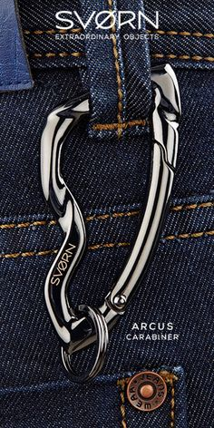 The Arcus carabiner is a luxury everyday carry keychain made with high-end sculptural design. An extraordinary men's accessory as well as a perfect gift. Physical Vapor Deposition, Things To Buy, Stuff To Buy, Edc Gear, Everyday Carry, Mode Style, Survival Gear, Tactical Gear, Gadgets