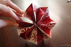 Paper Pinwheel Ornaments featuring Kim from Sand & Sisal {Handmade Ornament No.7} - bystephanielynn