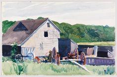Edward Hopper, Farm Building with Haywagon, 1927