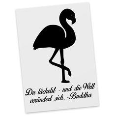 Postkarte Flamingo aus Karton 300 Gramm  weiß - Das Original von Mr. & Mrs. Panda.  Diese wunderschöne Postkarte aus edlem und hochwertigem 300 Gramm Papier wurde matt glänzend bedruckt und wirkt dadurch sehr edel. Natürlich ist sie auch als Geschenkkarte oder Einladungskarte problemlos zu verwenden. Jede unserer Postkarten wird von uns per hand entworfen, gefertigt, verpackt und verschickt.    Über unser Motiv Flamingo  Flamingos gehören zu den schönsten Vögeln im Tierreich und ähneln…