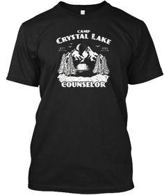 Camp Camping Crystal Lake Counselor Vint Black T-Shirt Front