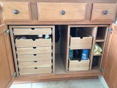 Bathroom Cabinet Storage Drawers - by screwge @ LumberJocks.com ~ woodworking community