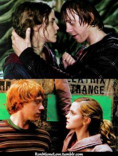 Harry Potter Ships, Harry Potter Film, Harry Potter Fan Art, Harry Potter Fandom, Harry Potter Hogwarts, Ron And Hermione, Ron Weasley, Hermione Granger, Rupert Grint