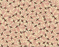 """Patchworkstoff """"Spirit of Christmas"""" mit Blüten-Wirbeln, beige-dunkelrot-moosgrün"""
