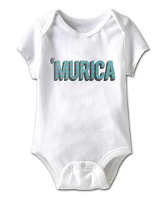 Another great find on #zulily! White ''MURICA' Bodysuit - Infant by  #zulilyfinds