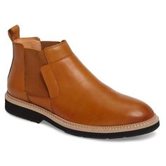 Men's Zanzara Garrad Chelsea Boot (12.410 RUB) ❤ liked on Polyvore featuring men's fashion, men's shoes, men's boots, cognac leather, mens wide fit boots, mens leather boots, mens beatle boots, mens leather chelsea boots and mens shoes