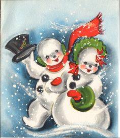 snow couple