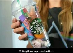 """Great gift for friends! """"White girl in a cup"""""""