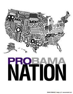 Sara Bacon. Probama Nation. Bienal del Cartel Bolivia BICeBé® 2013