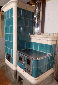 Kachelofen and Cookstove, in Easton, Maryland USA. See a video of the building of this oven.
