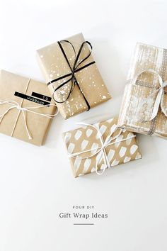 four DIY gift wrap ideas | almost makes perfect                                                                                                                                                                                 More