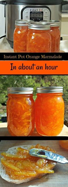 Pot Orange Marmalade Recipe in About An Hour This Instant Pot Orange Marmalade Recipe is delicious and ready in about an hour. Instant Pot Orange Marmalade Recipe is delicious and re. Instant Pot Pressure Cooker, Pressure Cooker Recipes, Pressure Cooking, Pressure Pot, Slow Cooker, Multi Cooker Recipes, Orange Marmalade Recipe, Making Marmalade, Gluten Free Vegan