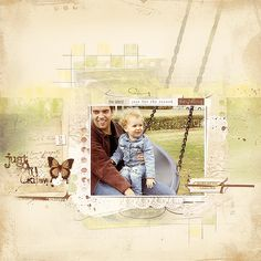 I (Margje) made this digital scrapbook page of my son and my grandchild with: ArtPlay Palette For The Record For The Record WordART No. 1 MultiMedia Documents No. 1 Textured Overlays No. 8 Other: RuledLines No. 1 NoteBook No. 1 All Anna Aspnes