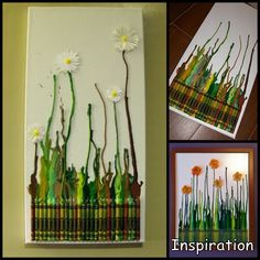 Cowie's Craft And Cooking Corner: Melted Crayon Art Arts And Crafts Projects, Crafts To Make, Crafts For Kids, Diy Crayons, Melting Crayons, Drip Art, Friend Crafts, Sky Art, Crayon Art
