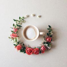 2016.11.5 Hello Saturday♡ Happy Coffee time ☕️ . . 今日も楽しいコーヒータイム♫ 皆さま素敵な休日を✨ . . . . . #花のある暮らし#バラ#コーヒー
