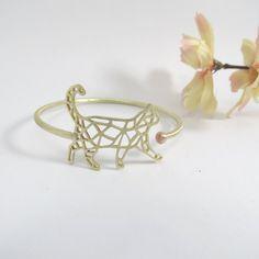 Cat Geometric bracelet by Wabycode by wabycode on Etsy