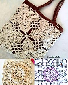DIY : Inspire-se nestas lindas 21 bolsas de crochê ⋆ De Frente Para O Mar DIY: Get inspired by these beautiful 21 crochet purses ⋆ Facing the Sea Bag Crochet, Crochet Handbags, Crochet Purses, Crochet Chart, Crochet Motif, Crochet Clothes, Crochet Flowers, Crochet Stitches, Free Crochet
