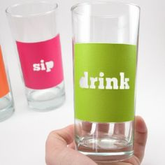 Color Block Drinking Glasses with Mod Podge Dishwasher Safe Forumla