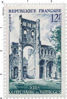 France Stamp - Abbaye de Jumièges (1954)