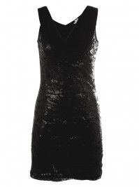 Cowl Sequin Dress