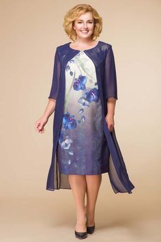 Dresses for obese women of the Belarusian brand Romanovich Fashion Style 2017 Skirt Fashion, Fashion Dresses, Mother Of The Bride Plus Size, Robes D'occasion, Ceremony Dresses, Mom Dress, Mode Hijab, Elegant Woman, Party Fashion