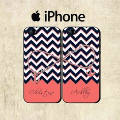 Best Friends iPhone Case  Personalized iPhone 5C by mylittlecase