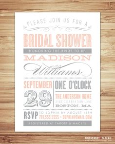 super stylish invites from Fine and Dandy Paperie on etsy.
