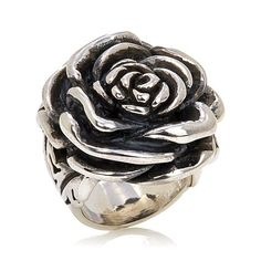 Shop King Baby Jewelry Sterling Silver Bold Rose Ring, read customer reviews and more at HSN.com.