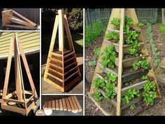 Make this pyramid planter to grow your own vegetables and herbs in a sma...
