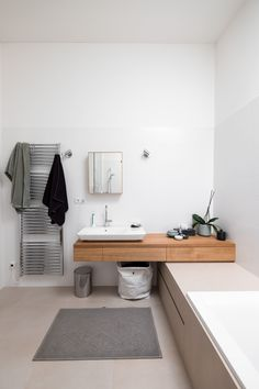 House F on the Hillside is a minimal residence created by Austria-based designers Breitenthaler Double Vanity, Minimalism, House, Austria, Bathrooms, Spaces, Future, Inspiration, Bath Paint