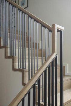 The designers' palette in Newton - Magazine - The Boston Globe Staircase details #ksidstudio #chicshack #stairdetail