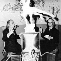 Salvador Dali & Brian Eno ...I would have loved to been in this room!