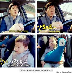 Minguk is such a caring and considerate baby Superman Kids, Korean Tv Shows, I Miss You Guys, Song Daehan, Song Triplets, Cutest Thing Ever, Kids Songs, Celebrity Dads, Baby Pictures