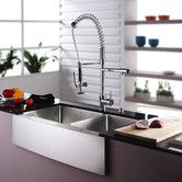 "Found it at AllModern - 35.9"" x 20.75"" 8 Piece  Farmhouse Double Bowl Kitchen Sink Set"