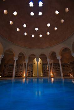 Arabic Hammam Al Ándalus in Malaga, Spain. Warm bath.