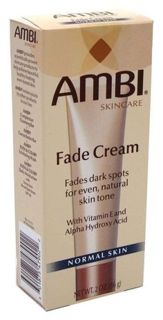 [AMBI] FADE CREAM NORMAL SKIN WITH VITAMIN E, ALPHA HYDROXY ACID & SUNSCREEN 2OZ #AMBI