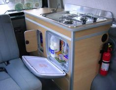 Camper van home builder furniture and layout examples | Campervan Life | Rear Kitchen