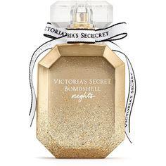 Bombshell Nights Eau de Parfum - Victoria's Secret ($55) ❤ liked on Polyvore featuring beauty products, fragrance, perfume, makeup, gold, filler, eau de perfume, victoria's secret, victoria secret fragrance and edp perfume