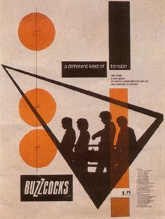 Buzzcocks – A Different Kind Of Tension Poster (257×340). By Malcolm Garrett.