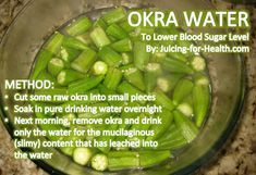 Drinking Okra Water In The Morning