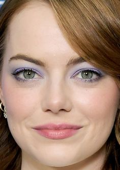 Close-up of Emma Stone at the 2017 Vanity Fair and Barneys New York dinner for 'La La Land.'