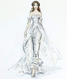 Wedding dresses designer sketch inspiration Best Ideas Source by dresses drawing Gown Dress Design, Dress Design Drawing, Dress Design Sketches, Fashion Design Drawings, Drawing Designs, Sketch Design, Dress Designs, Drawing Ideas, Fashion Illustration Sketches