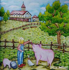 Romantic Country The Third Tales by:@eriy #romanticcountry #romanticcountrycoloringbook #romanticcountry3 #colorindolivrostop #bayan_boyan #coloriage #artecomoterapia #inktense #coloring_secrets