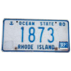 1980 Rhode Island Rare Four Digit License Plate 1873 Metal Wall Art ($16) ❤ liked on Polyvore featuring home, home decor, wall art, signs, metal car signs, metal wall art, metal plate, metal signs and stamped metal signs