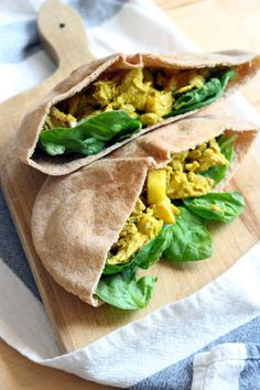 Curried Chicken Salad with Apples and Raisins    This chicken salad is the PERFECT blend of sweet and spicy; it's simple to make with a complex flavor that will knock your socks off. Make in bulk to have sandwiches all week in a whole wheat pita pocket with baby spinach! Yum!