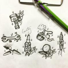 Small gap fillers tattoos #tattoo #drawing #makeup